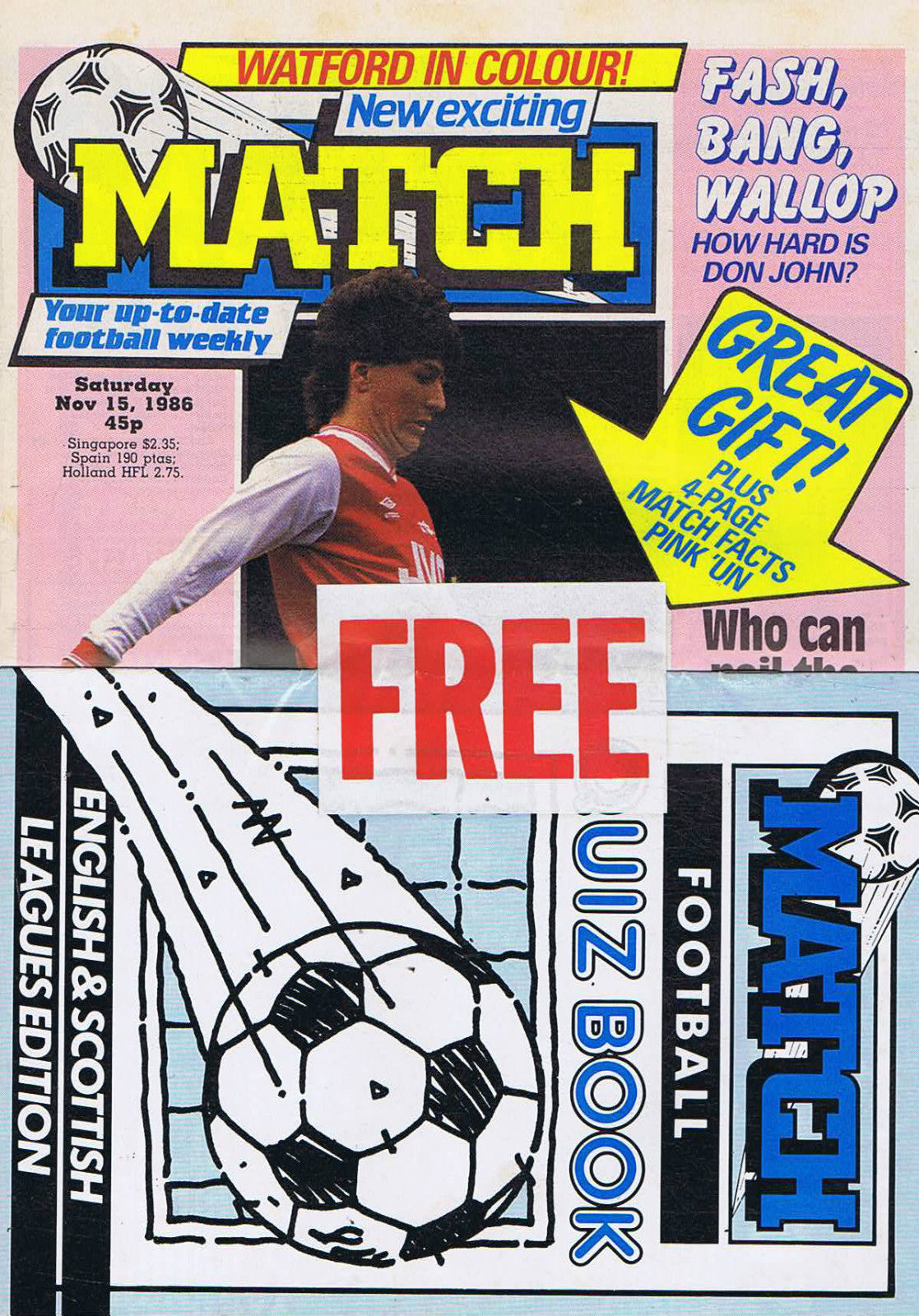 match quiz book magazine