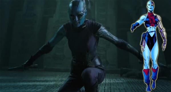 """Karen Gillan en Nébula en """"Guardianes de la Galaxia"""""""