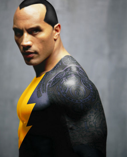 THE ROCK COMO BLACK ADAM