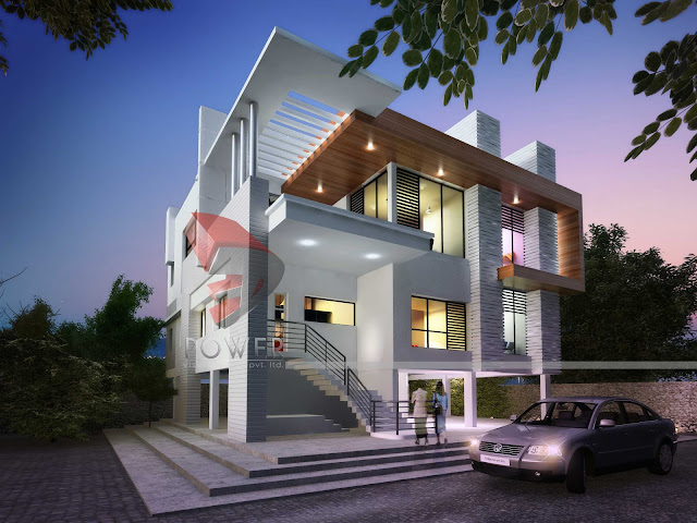 Ultra Modern House Design,modern architecture blog,3d architecture rendering