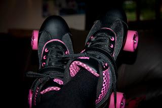 pink roller skartes