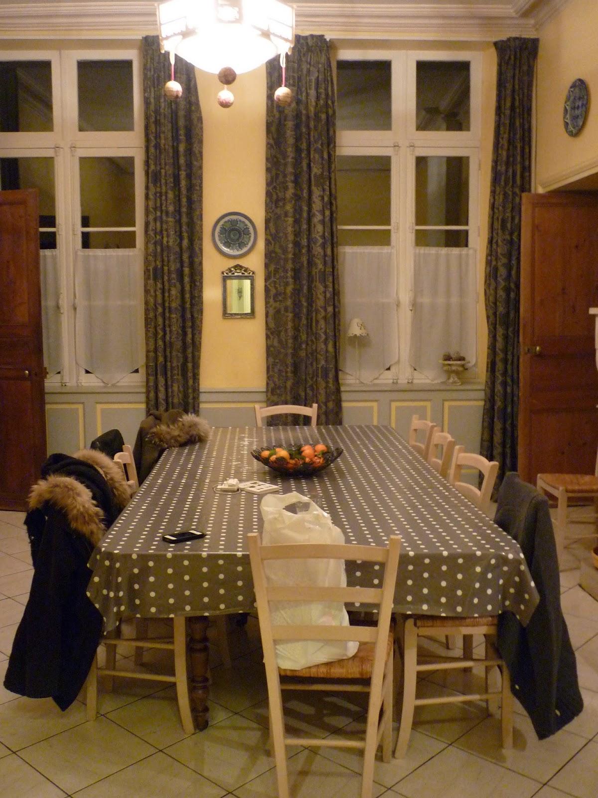 Salle à manger du Manoir de Beaurepaire en Normandie