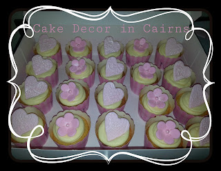 wedding cupcake toppers hearts flowers