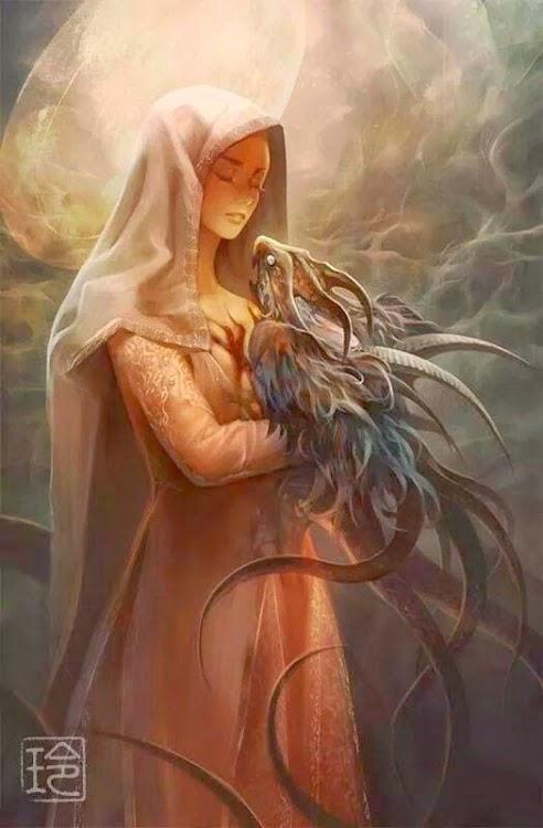 Kyra & her baby dragon