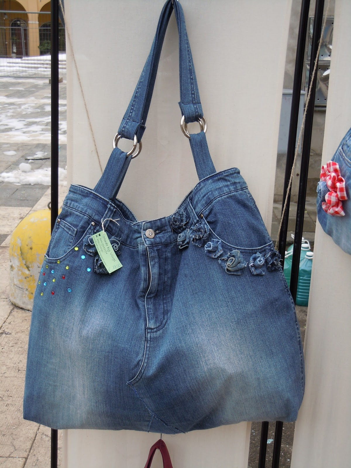Soul food to go borse di jeans fatte con i jeans for Borsa jeans tutorial