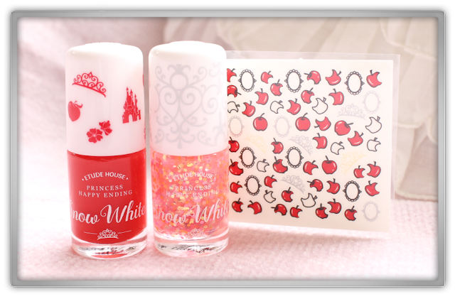 Beautynet Korea Secret Key Etude House Haul Review Princess Happy Ending Nail Kit #1 Snow White 1