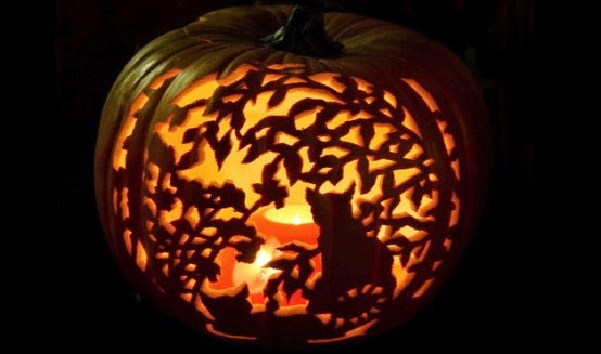 Cat Carving Pumpkin