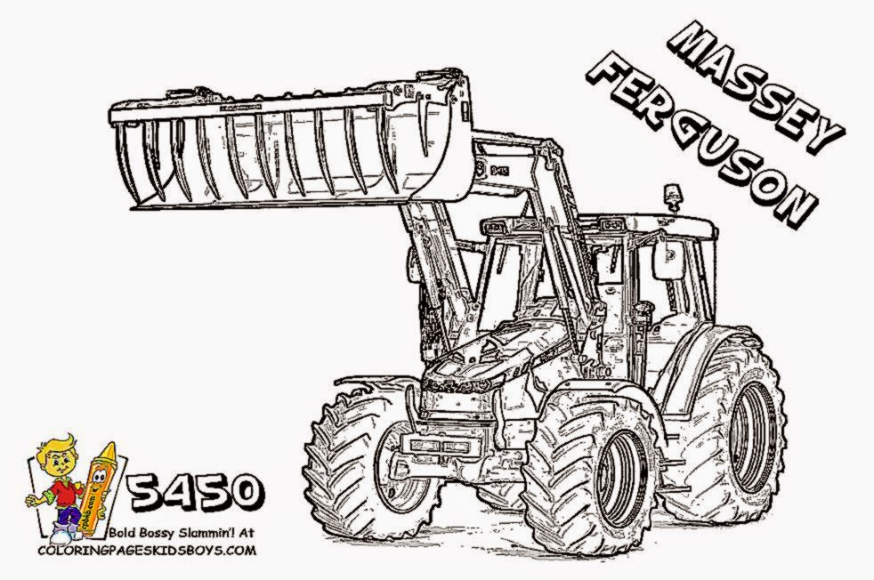 free farm equipment coloring pages - photo#34
