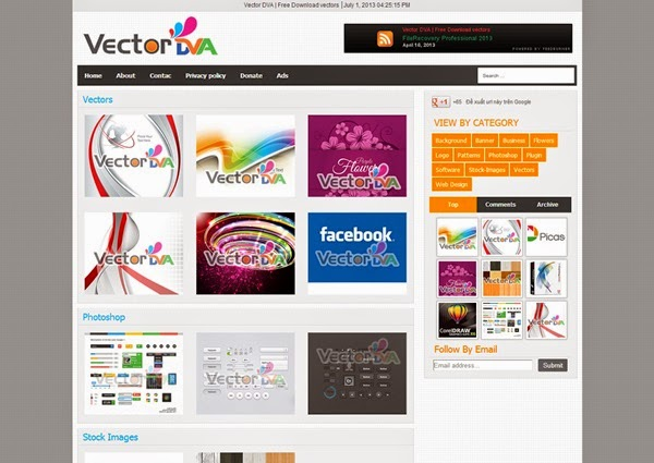Vector Responsive Blogger Template for Photo Galleries