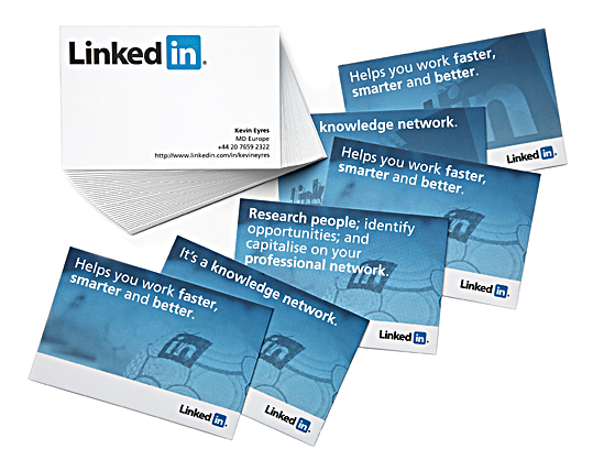 Best Business Cards example For Websites linkedin social network for professionals