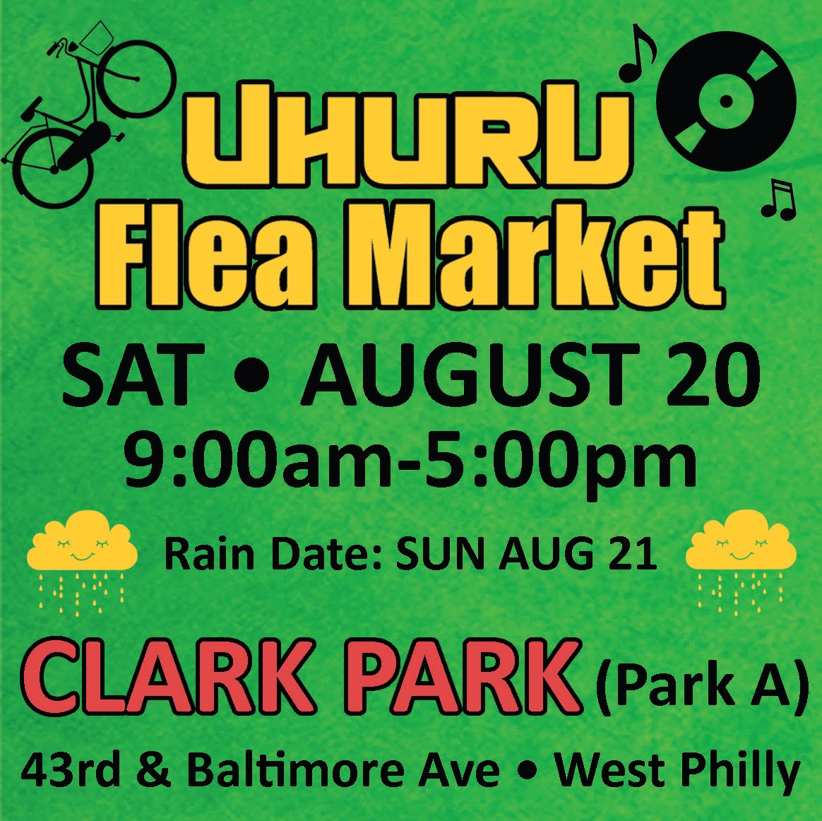 Uhuru Flea Market - SAT AUGUST 20th!