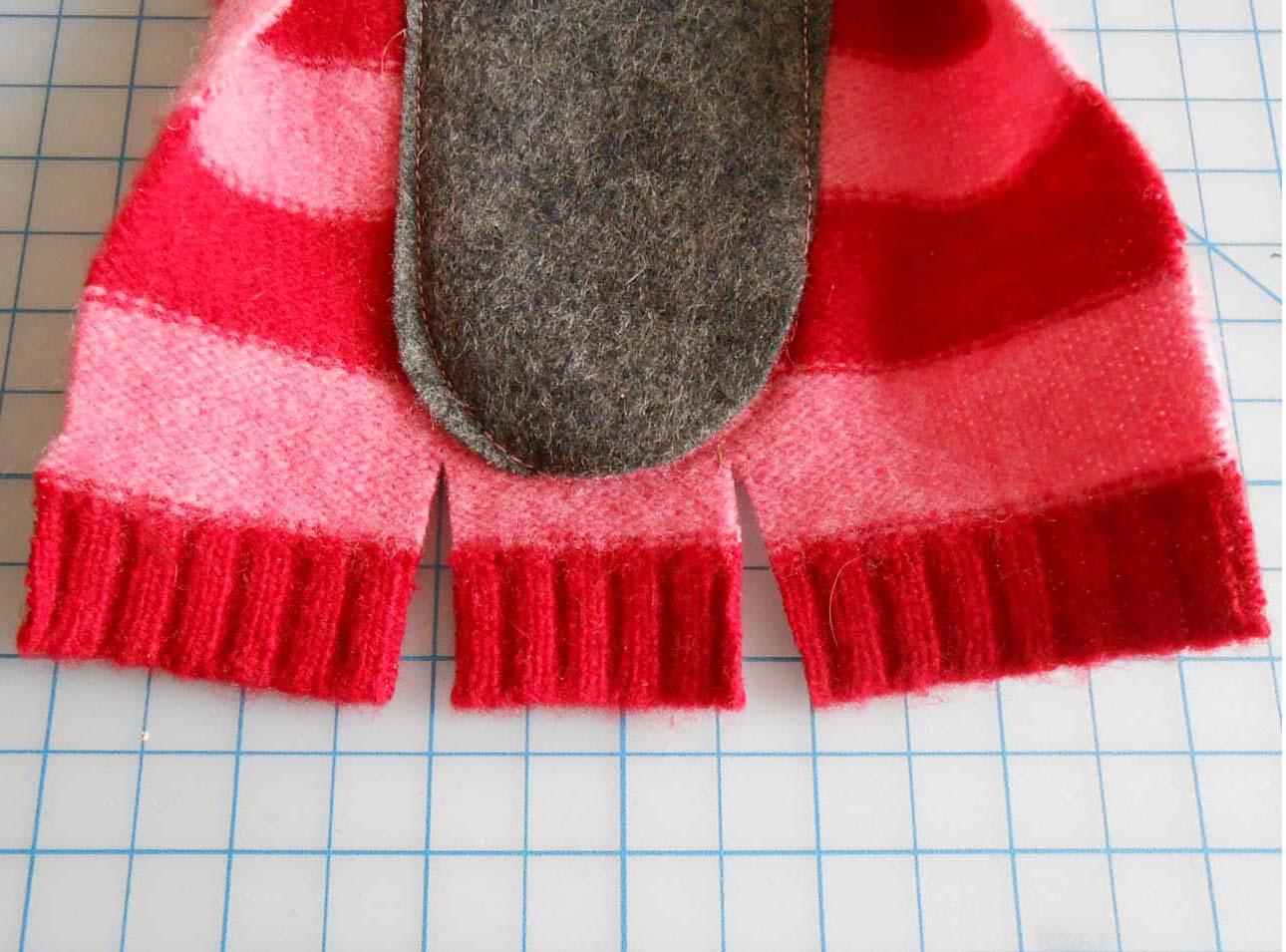 Переделка старого свитера в носки Мастер-класс своими руками 90