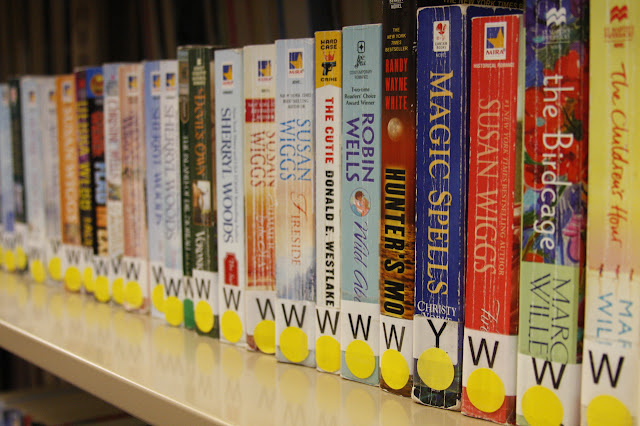 romance novels mis-shelved at library