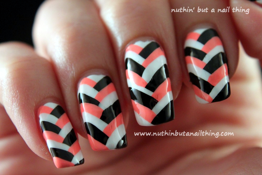 nuthin\' but a nail thing: Fishtail Manicure Tutorial