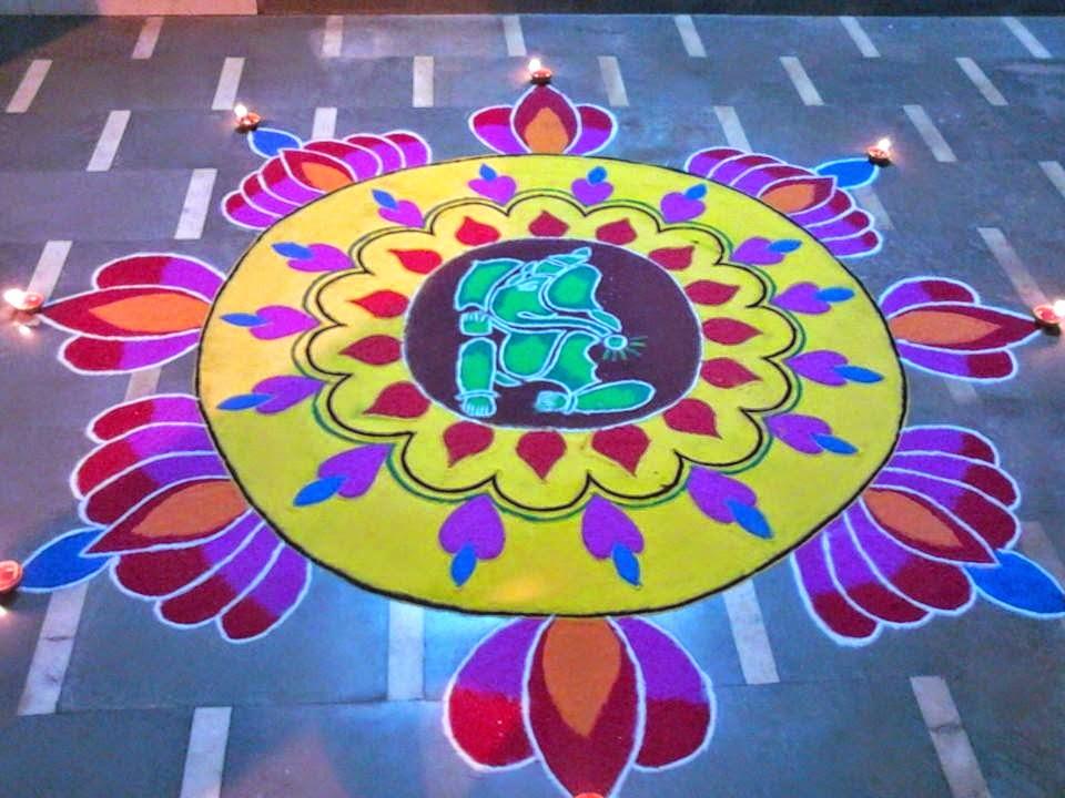 Ganesha Rangoli 15