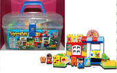 New 54pcs Supermarket Educational Series Blocks with Carry Box,RM30 only!!!