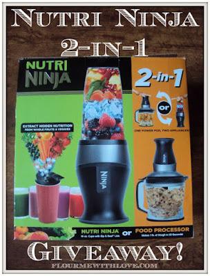 Nutri Ninja 2-in-1 giveaway, flourmewithlove.com