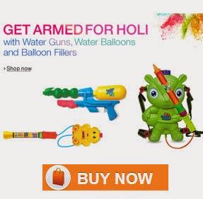 Buy Holi Water Guns, Water Balloons & Ballon Filler upto 50% off from Rs. 75 at Amazon : BuyToEarn