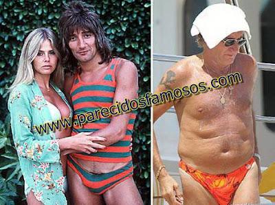 Rod Stewart Famosos antes y después