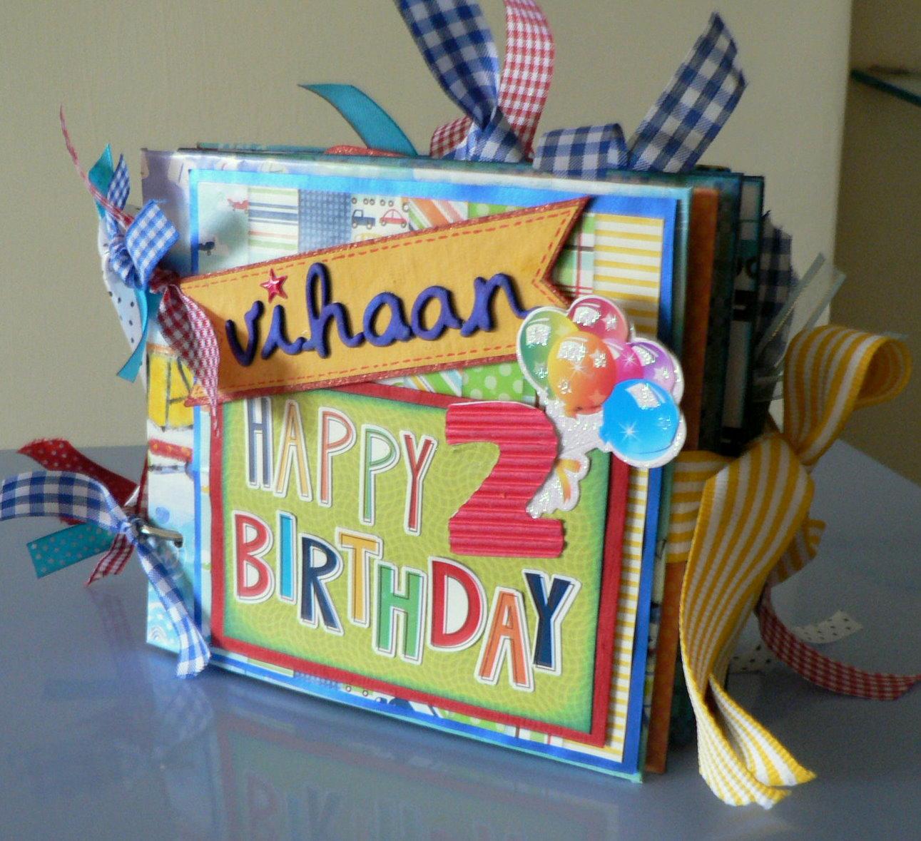 Juhis Handmade Cards Baby Boy Birthday Mini Album – Boys Birthday Card Ideas