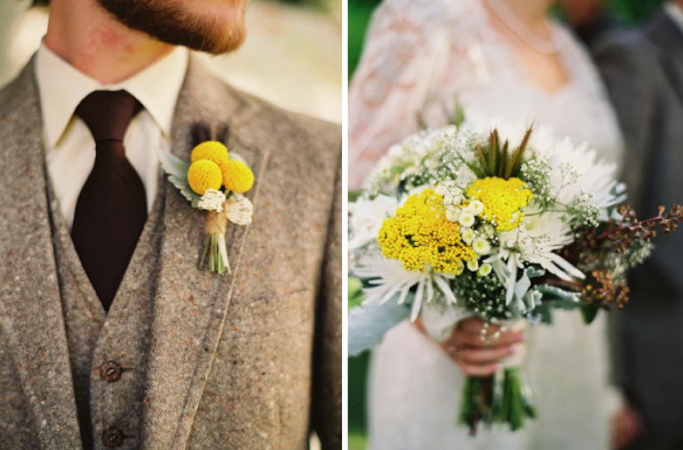 dandelion and grey Real Wedding Brandon Serra