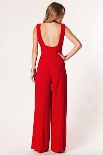 sırtı açık kırmızı elbise modeli