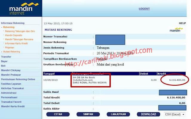 Bukti Pembayaran IBC ( IndoBoClub ) | Cari Hoki