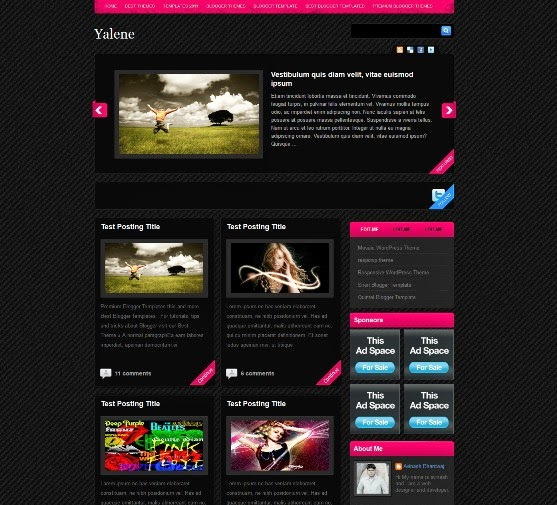 Yalene Blogger Template