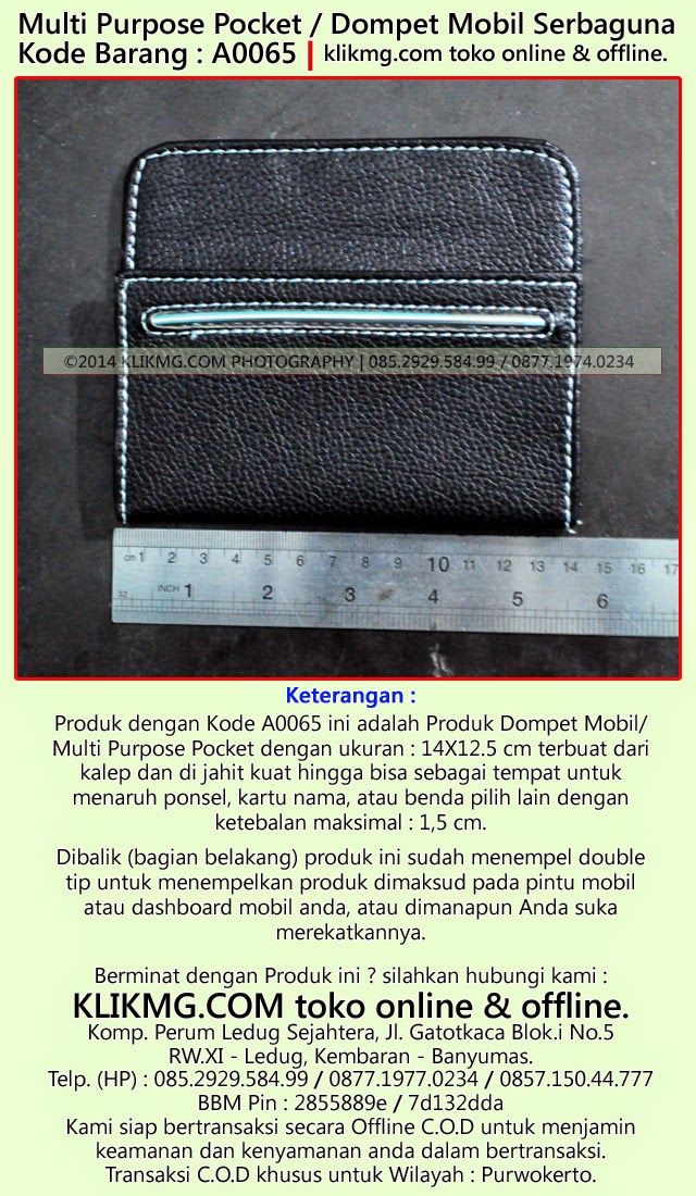 Multi Purpose Pocket / Dompet Mobil Serbaguna - Kode Barang : A0065 | klikmg.com toko online jujur & terpercaya