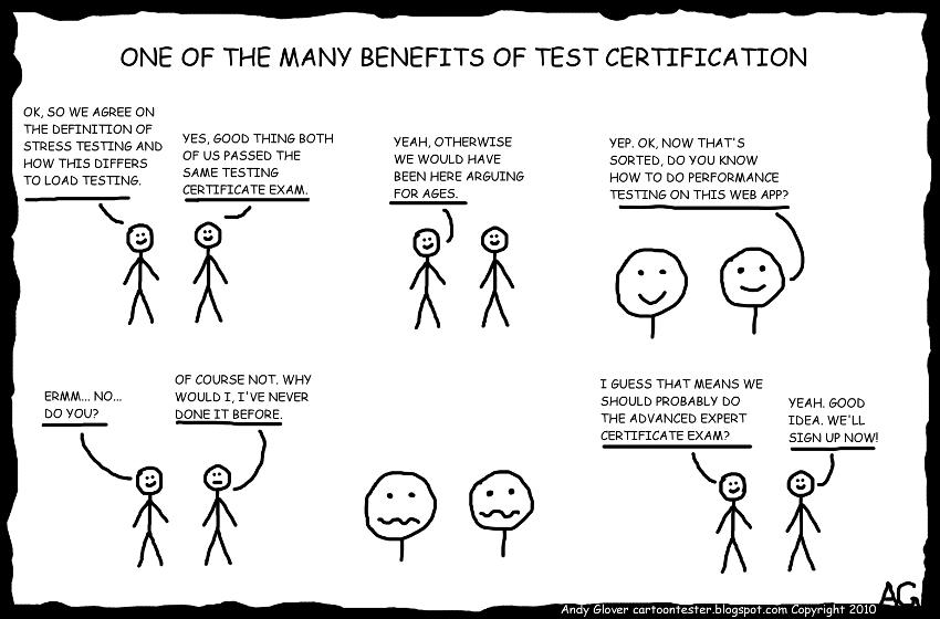 Cartoon Tester: Certification