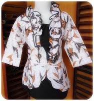 model baju batik kerja kantor