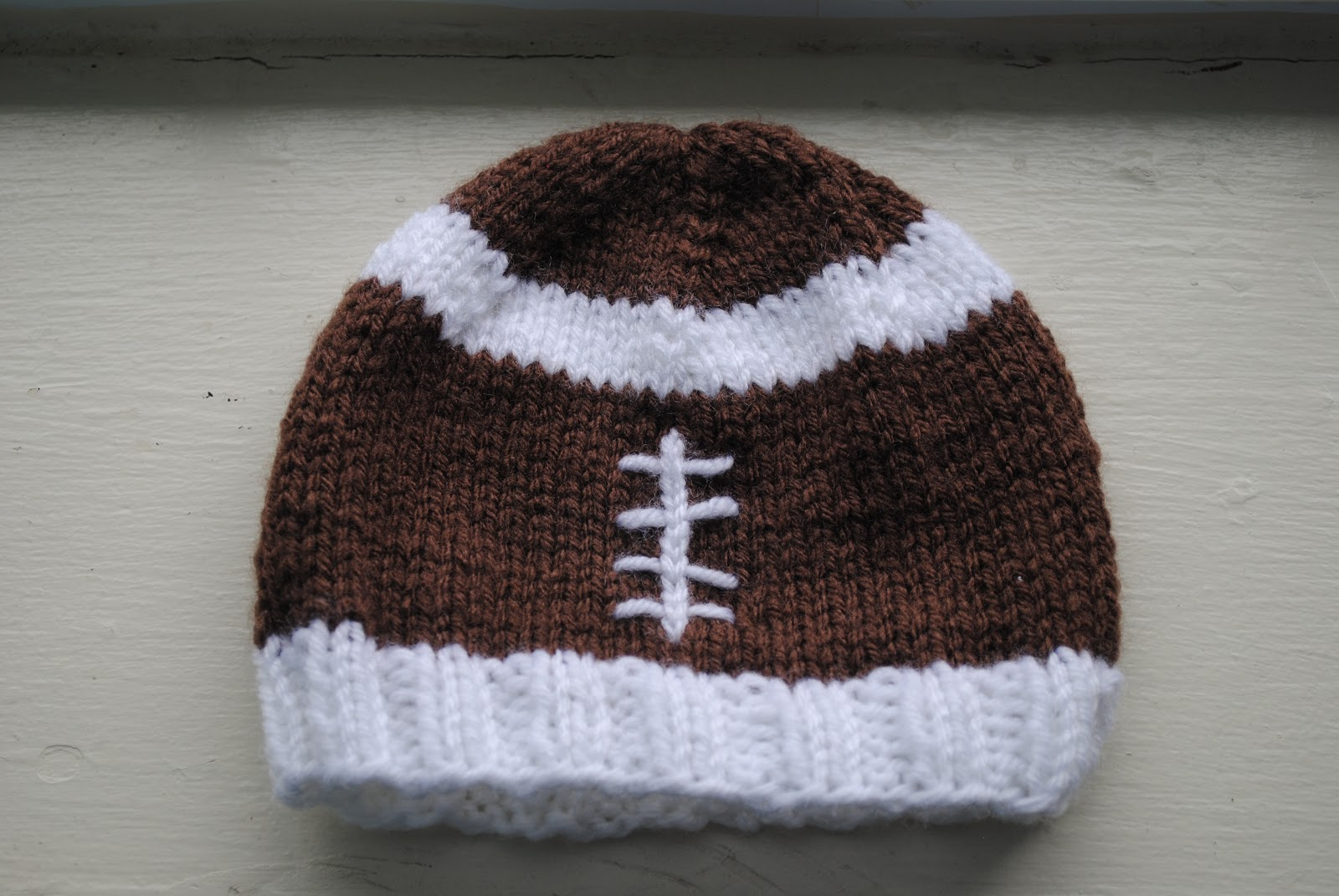 Knitting In The Round Changing Colors : The underground hooker baby football hat