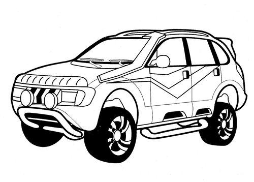 gambar mobil penjelajah (fortuner)