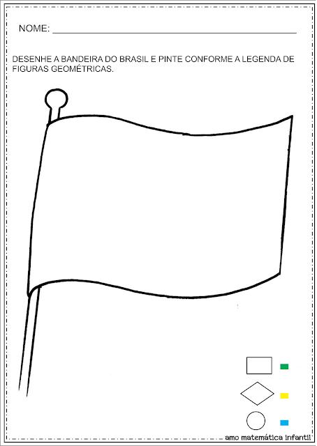 Dia da Bandeira Atividades Cores Figuras Geométricas