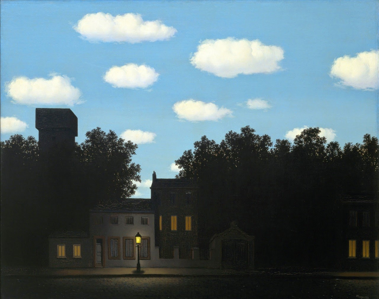 Rene Magritte, The Empire of Light II day and night light