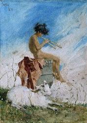 Mariano Fortuny tambien fue hechizado por la flauta doble sarrana