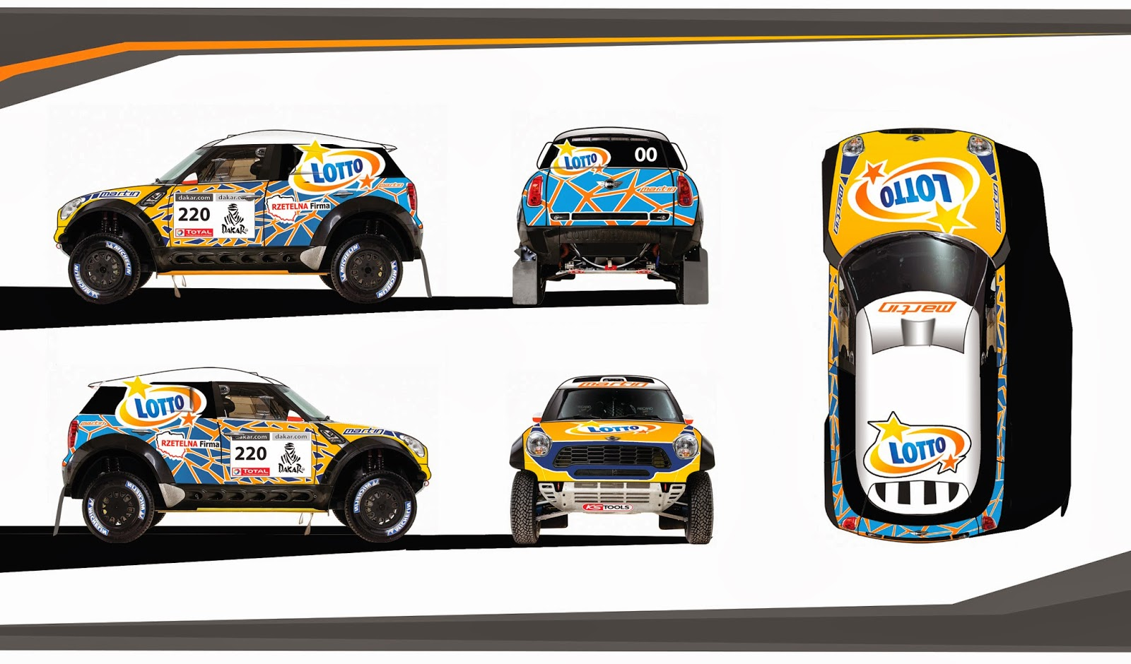 Cover project of dakar 2014 rally car and manitenance truck