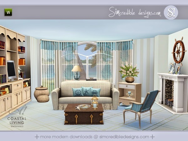 Simcredible Coastal Living Room