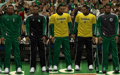 NBA 2K13 Boston Celtics Warmups (Stands As One)