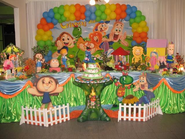 decoração de festa infantil Diante do Trono