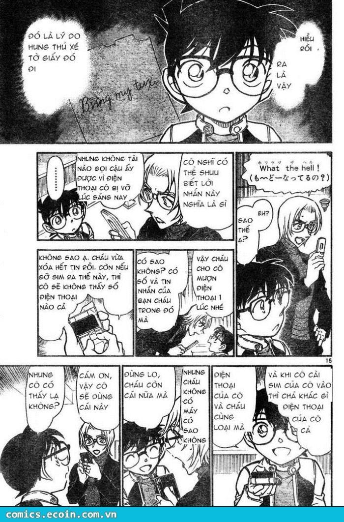 Detective Conan - Thám Tử Lừng Danh Conan chap 607 page 15 - IZTruyenTranh.com