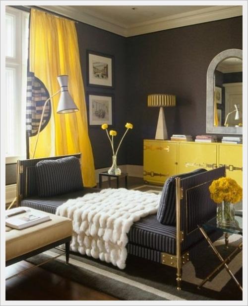 Decore Combinação de cores Amarelo e cinza