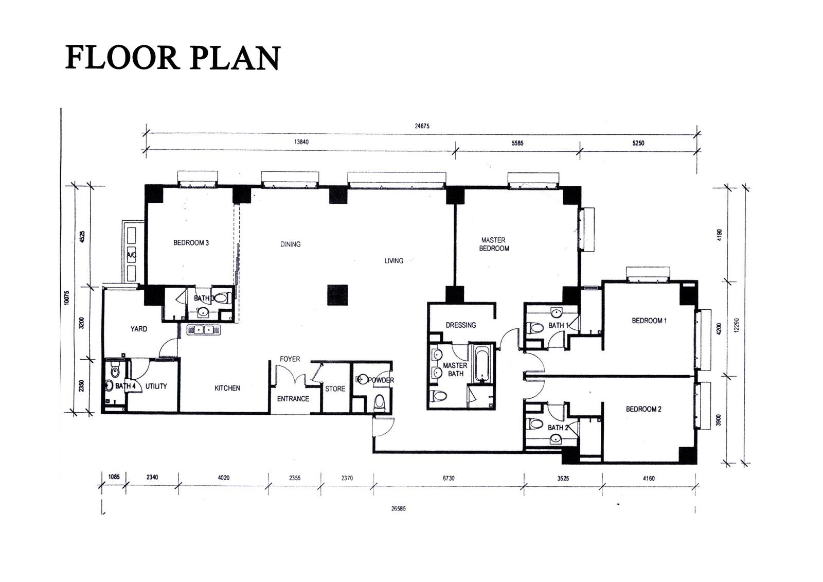 The capsquare residence floor plan for X2 residency floor plan