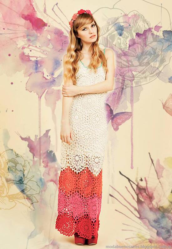 Vestidos de moda verano 2014 Florencia Llompart moda 2014.