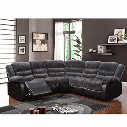 Global Furniture U93935-SECTIONAL 3-Piece Sectional Sofas  sc 1 st  Sectional Reclining Sofa Sale - blogger : 3 piece reclining sectional sofa - islam-shia.org