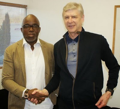 Amaju Pinnick and Arsene Wenger