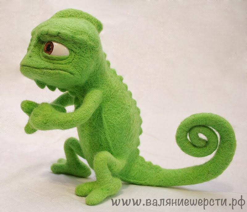 хамелеон паскаль игрушка из шерсти