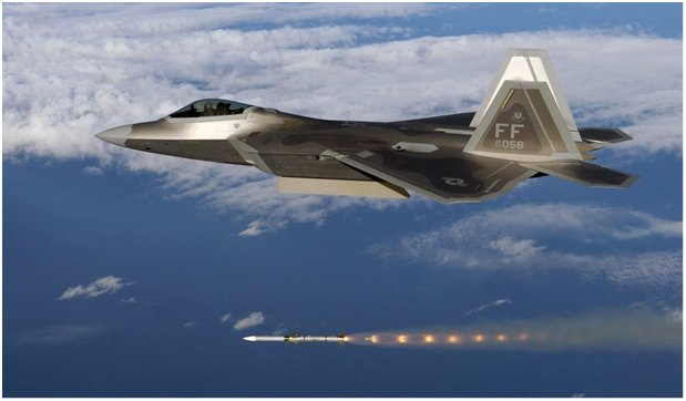F-22A raptor AIM-120 missle launch