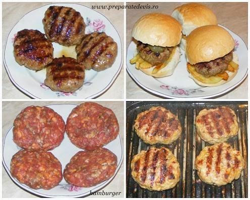 hamburgeri, grill, gril, hamburger din carne de vita si porc, reteta hamburger, retete de mancare, retete culinare, preparate culinare, hamburger de casa, retete hamburger, friptura la gratar,