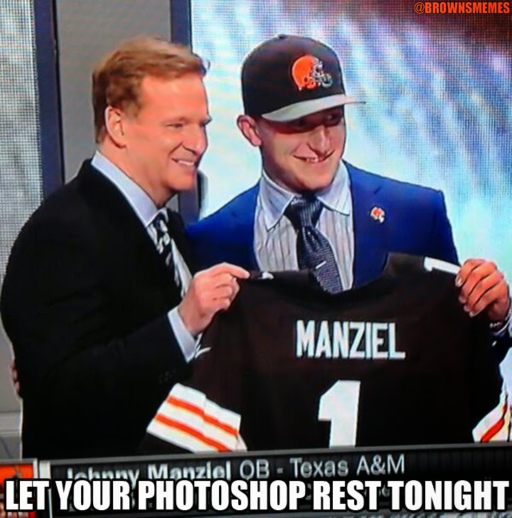 Johnny Manziel gets drafted by the Cleveland Browns